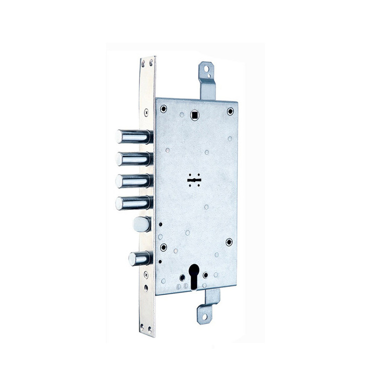 Italian style CE approved double bitted key lock body for armoured door