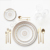 JY Wholesale wedding hotel used porcelain dinnerware sets  ceramic gold rims dinner sets