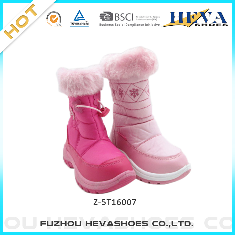 77709e732b0 Wholesale cheap girls cute winter boots warm fur lined kids winter  waterproof snow boots