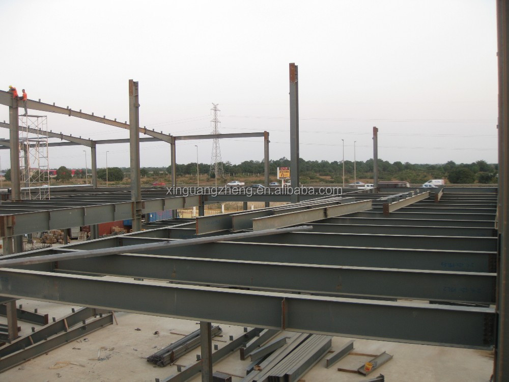 prefab steel project construction supermarket with CE certification