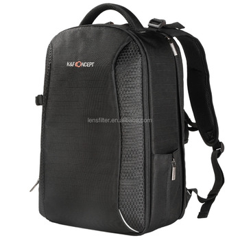 83dd4cf180 K F Concept DSLR Big Size Waterproof Nylon Black Camera Backpack camera bag  With Rain Cover