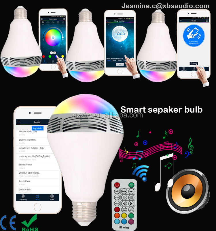 New Bulb Type And Led Light 2015 New Bluetooth Speaker Bulb ...