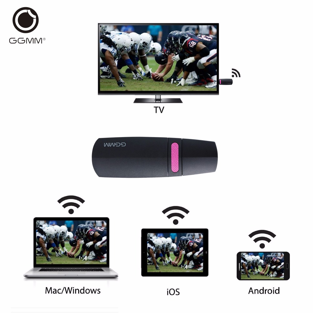 GGMM V-linker Chromecast Ezcast 5G Miracast Original Mini PC Android <strong>TV</strong> <strong>Stick</strong> WiFi <strong>Dongle</strong> DLNA Mirascreen Mirror Chrome