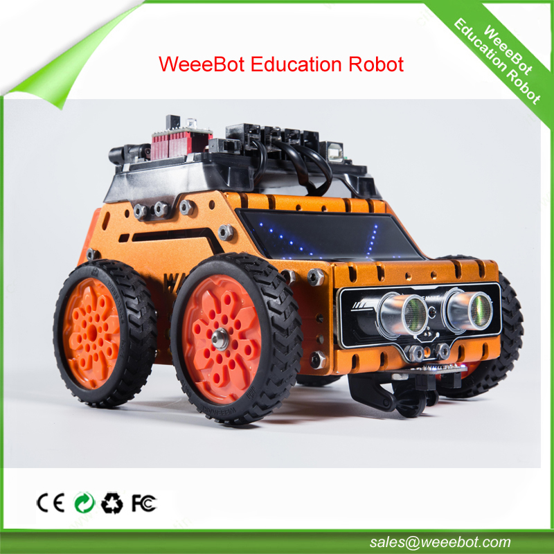 WeeeBot Super STEM Building Robot Kit Remote Control Robotics Smart Car Cool Electric RGB LED Jeep Toy Education Arduino Program