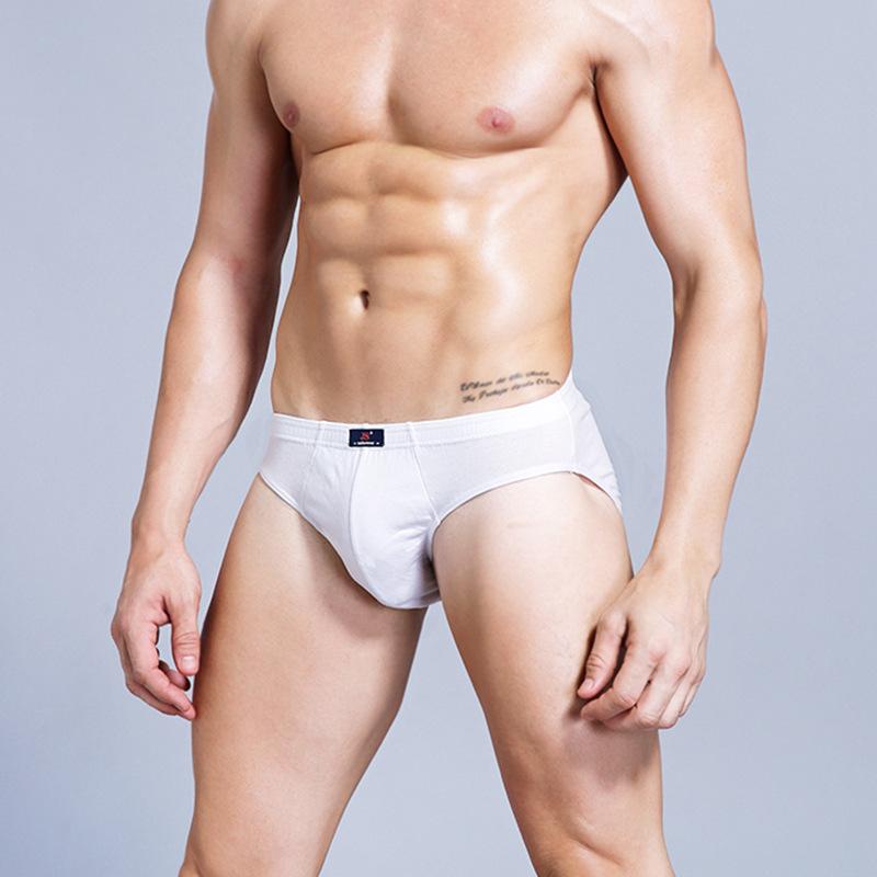 Sexy male model white underwear stock photo