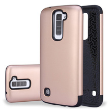 Dual Layer Impact Heavy Duty Rugged Hybrid Hard Case Cover for LG K7 Case Silicone Phone Cases