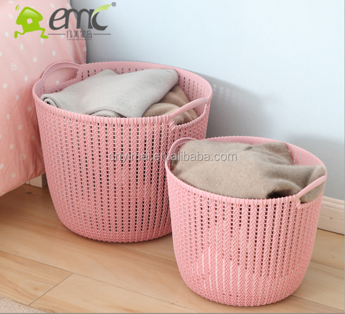 emc plastic luandry baskets, plastic round laundry baskets with handles
