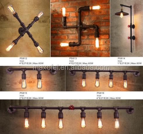 E27 Rustic Steampunk Edison Light Bulb Bar Fixture Lighting Retro ...