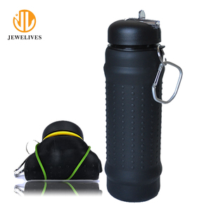 Alibaba best sellers private label silicone collapsible water bottle