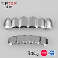 Gold and Silver Plated Hip Hop Grillz with Rhinestone Good Quality REACH EN-71 Approved