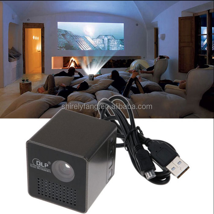 2017 New LED micro projector Support TF/USB video play DPL mini portable projector Full HD 1080P home beam projetor proyector