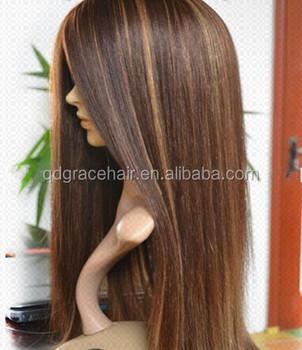 Hot Fashion Blonde Haare Mit Braunen Markierungsfarbe 427