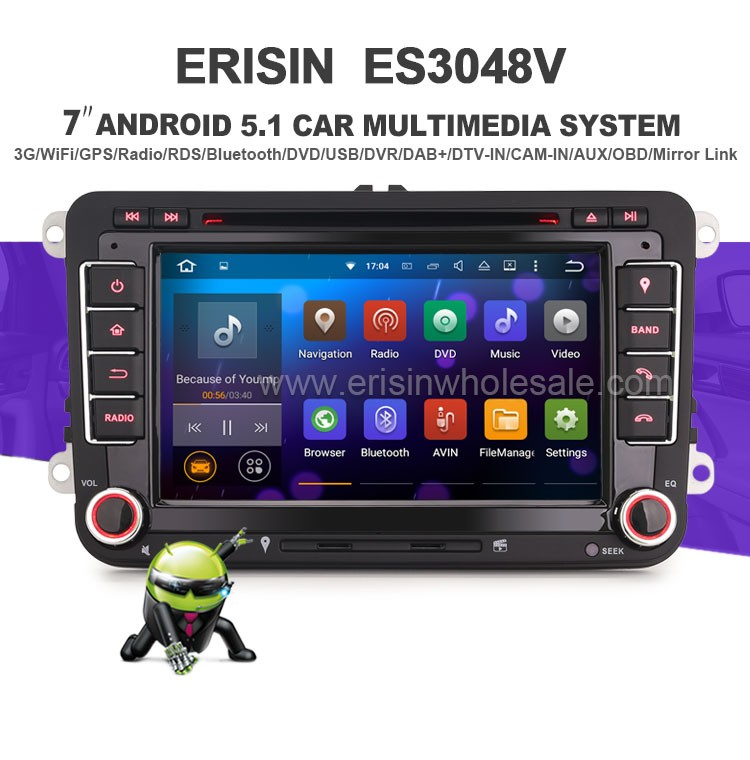 erisin es3048v 7 android 5 1 car audio system with gps. Black Bedroom Furniture Sets. Home Design Ideas