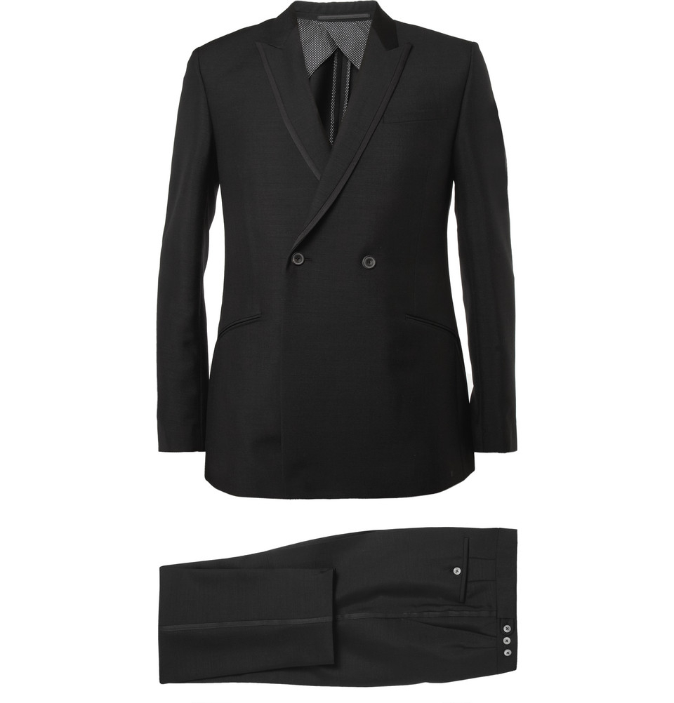 Ash Two Buttons Side Vent Double Breasted Tailored Formal Mens ...