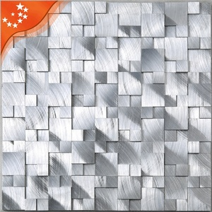 HXM13 Hot Sale Modern Silver Aluminum Alloy 3d Bathroom Wall Tiles Scenery