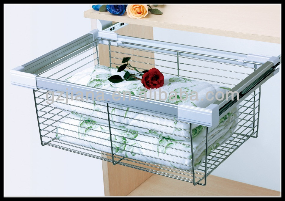 Jayna Wardrobe Pull Out Wire Basket With Ball Bear Slide - Buy Pull ...