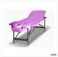 Hot Sale Portable Adjustable Aluminium Massage Table 3 Fold Beauty Therapy Bed Massage Bed