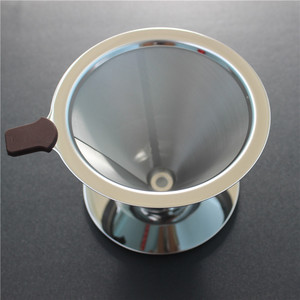 115mm 2 cups stainless steel reusable drip cone coffee filter