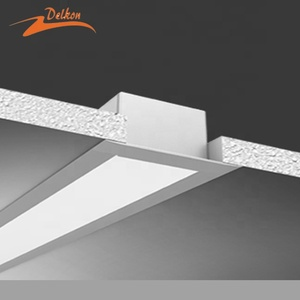 90*35mm 3ft Connectable Gypsum Ceiling Light Recessed Linear LED Profile System for Home Theater