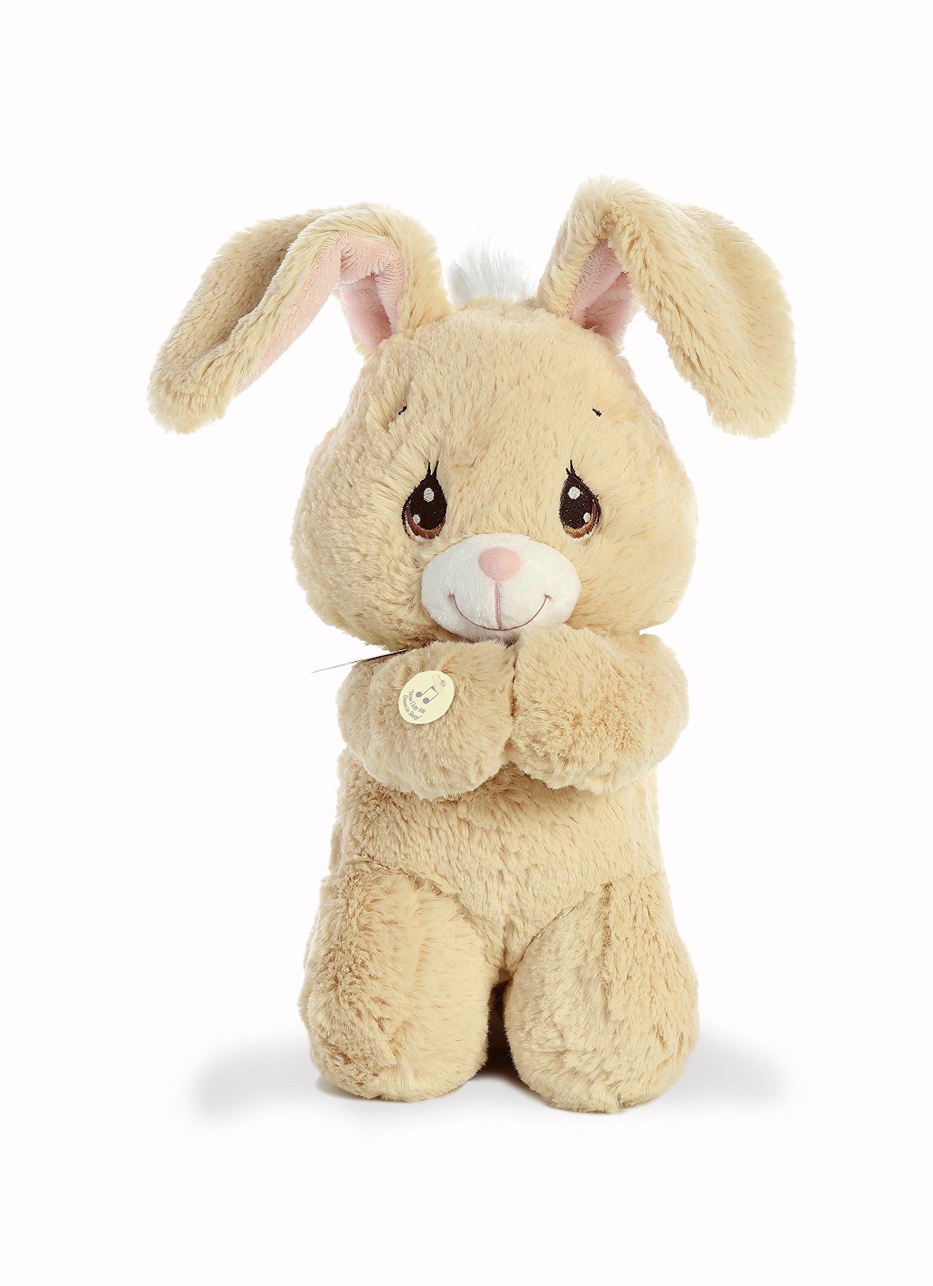 "Aurora World Precious Moments Musical Plush Toy Animal, Floppy Prayer Bunny, 10"""