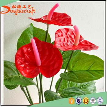 Latest Design Indoor Artificial Bonsai Plants For Japanese Anthurium Cut  Flowers Restaurant Decoration - Buy Indoor Artificial Bonsai  Plants,Japanese