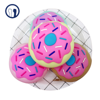 Doughnut silicon jelly coin wallet, donuts silicon coin purse, cute coin purse with high quality