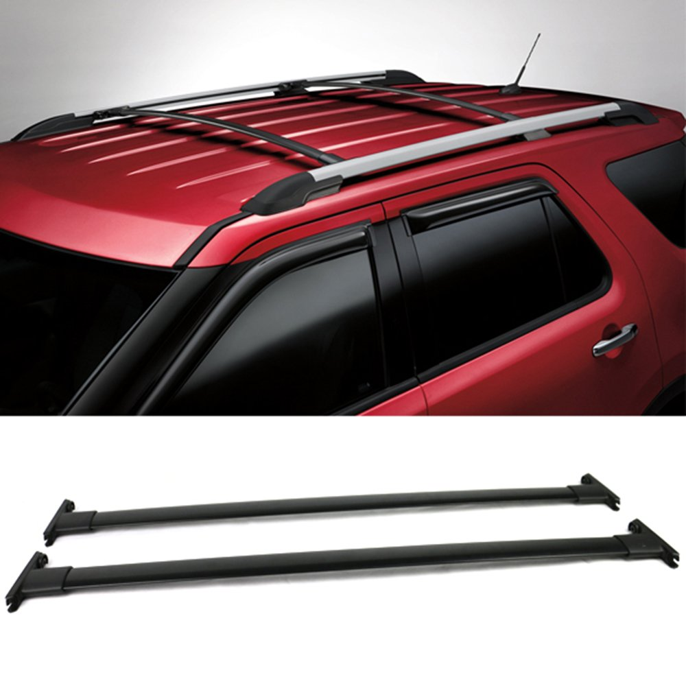 Roof molding and crossbar (if equipped)