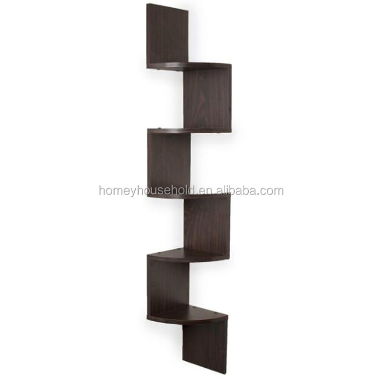 Special Design Wooden Large Corner Wall Shelf