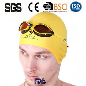 Printed Personalized Logo Silicone Swimming Cap Water Pool Cap, Swimming Cap