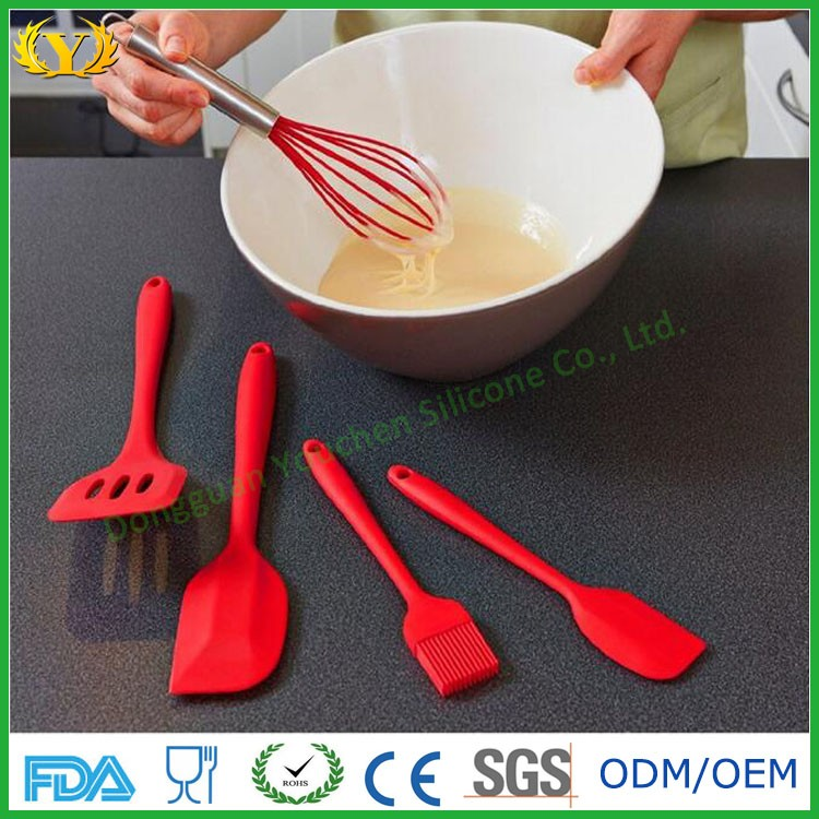 Factory direct FDA LFGB Silicone kitchenware cooking tools 5pcs baking utensil sets