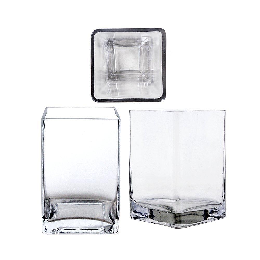 Cheap bulk square glass vases find bulk square glass vases deals get quotations mega vases 4 x 6 square cube glass vase set of 1 reviewsmspy