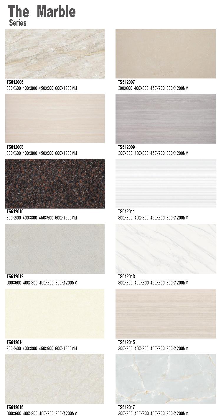 Bathroom Design Non Slip Wooden White Grey Vein Marble Tiles 5.5mm ...