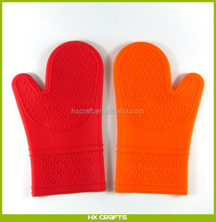 BBQ Protective Mitts Heat Resistant Waterproof Gloves Non-Slip Silicone Cooking Gloves for Barbecue