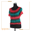 new 2017 latest top hand made crochet knitting striped colorful blouse designs for women