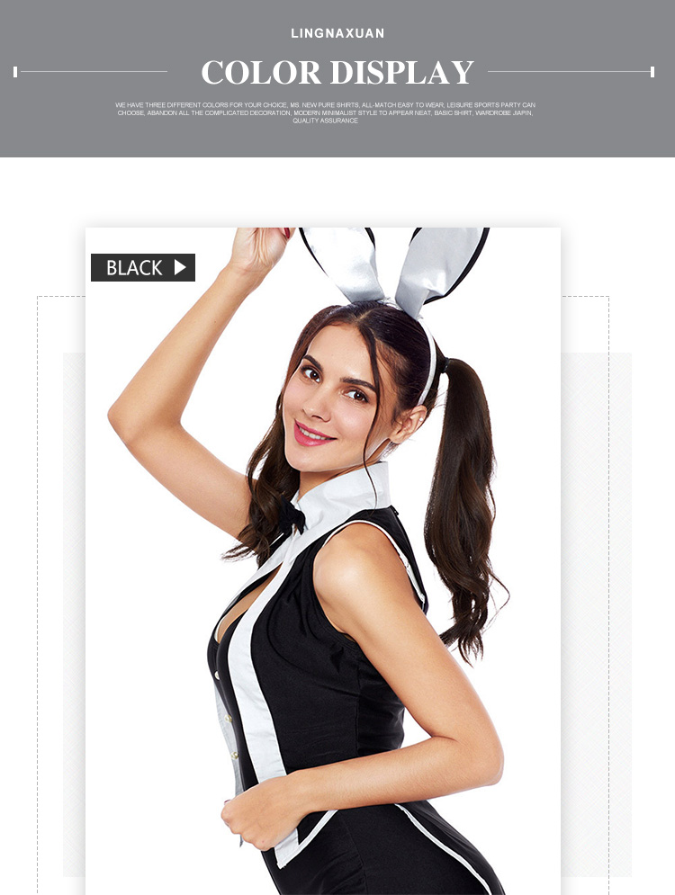 2019 New stage costume  five-piece role playing Halloween sexy rabbit costume