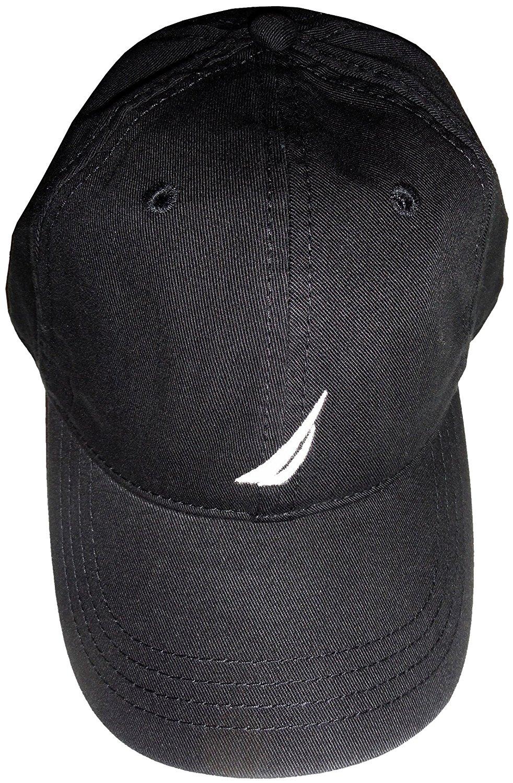 86e756880d53d Get Quotations · Men s Nautica Hat Ball Cap Black with Logo