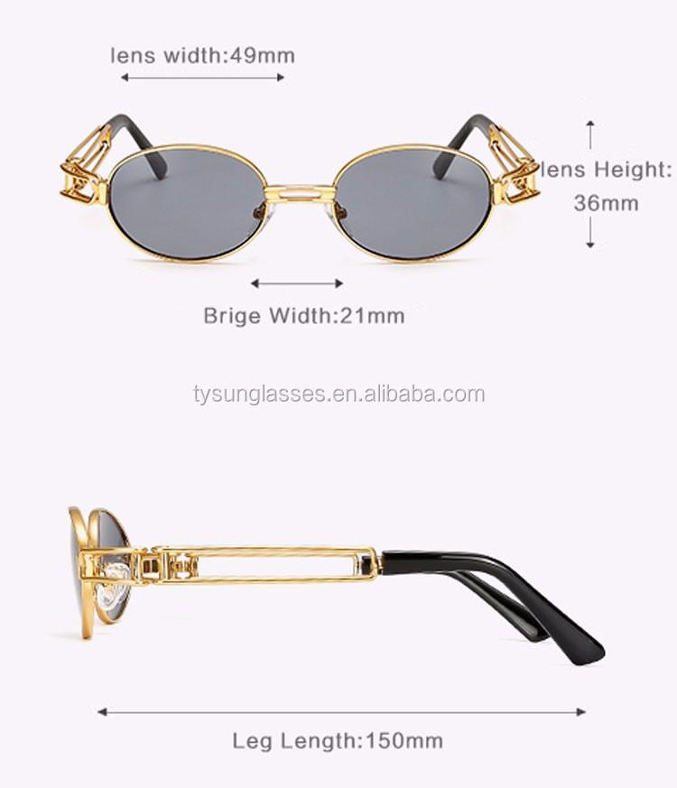 b7ae1bb4c2 2017 Hop Retro Small Round Sunglasses Women Vintage Steampunk Sunglasses  Men Gold Glasses Frame Eyewear Oculo