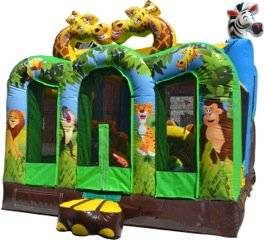 New Inflatable 13 Foot High Jungle Adventure Bounce House with Free 1.5 HP Blower and Free Shipping