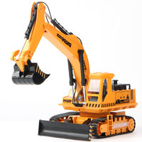 caterpillar 15 Channel Remote Control Metal Rc Excavator Models toys