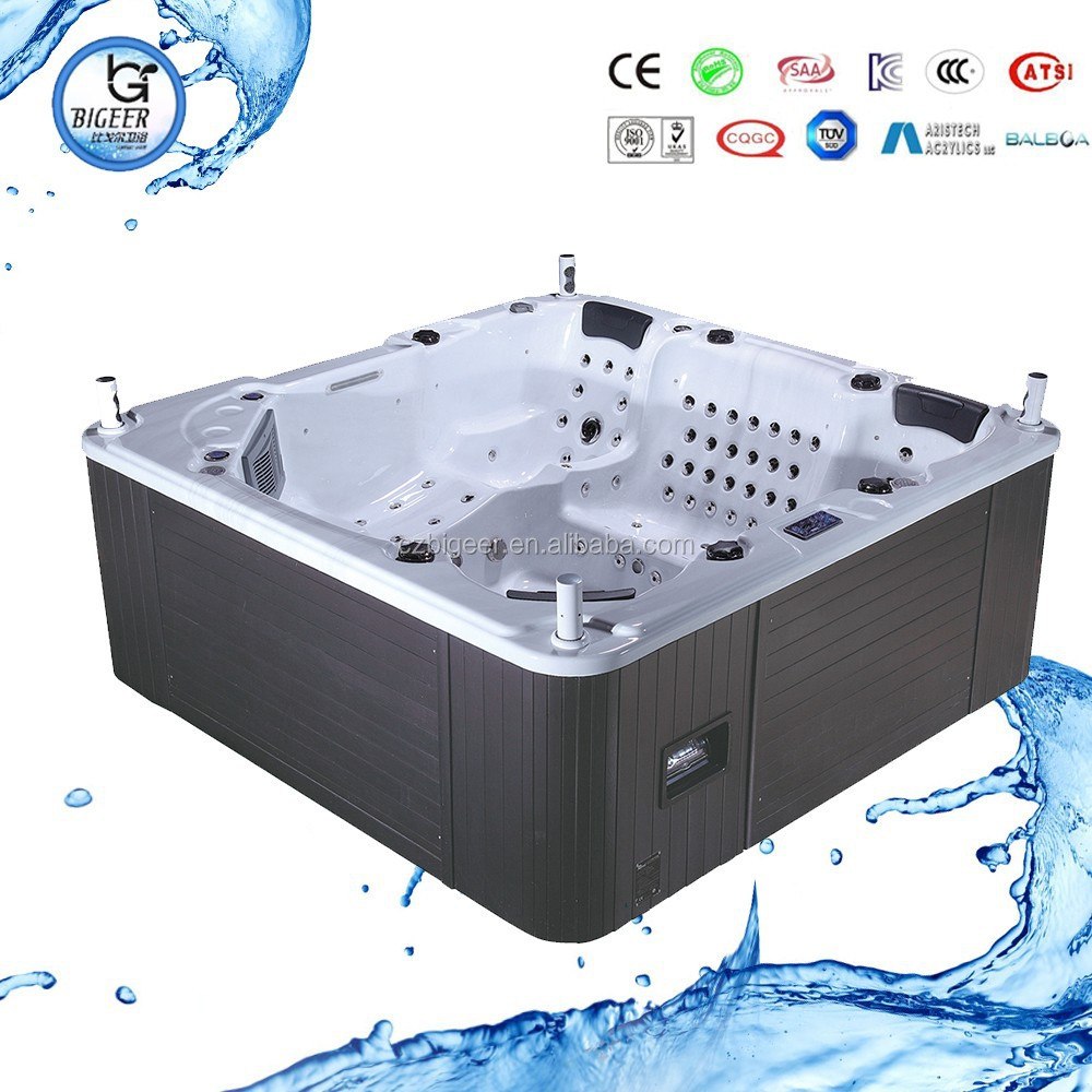 2014 hot sale BIGEER jacuzy outdoor hot tub spa with jacuzzy function(BG-8836)