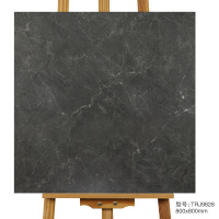 Black Glazed terracotta Rustic Floor Tile
