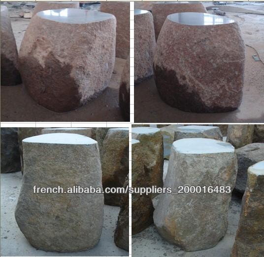 table en pierre de jardin et banc produits en pierre. Black Bedroom Furniture Sets. Home Design Ideas