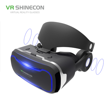 8a6582fbf39 2018 high quality Virtual Reality Headset 3D VR Glasses for IOS  Android  Phones with Headphone
