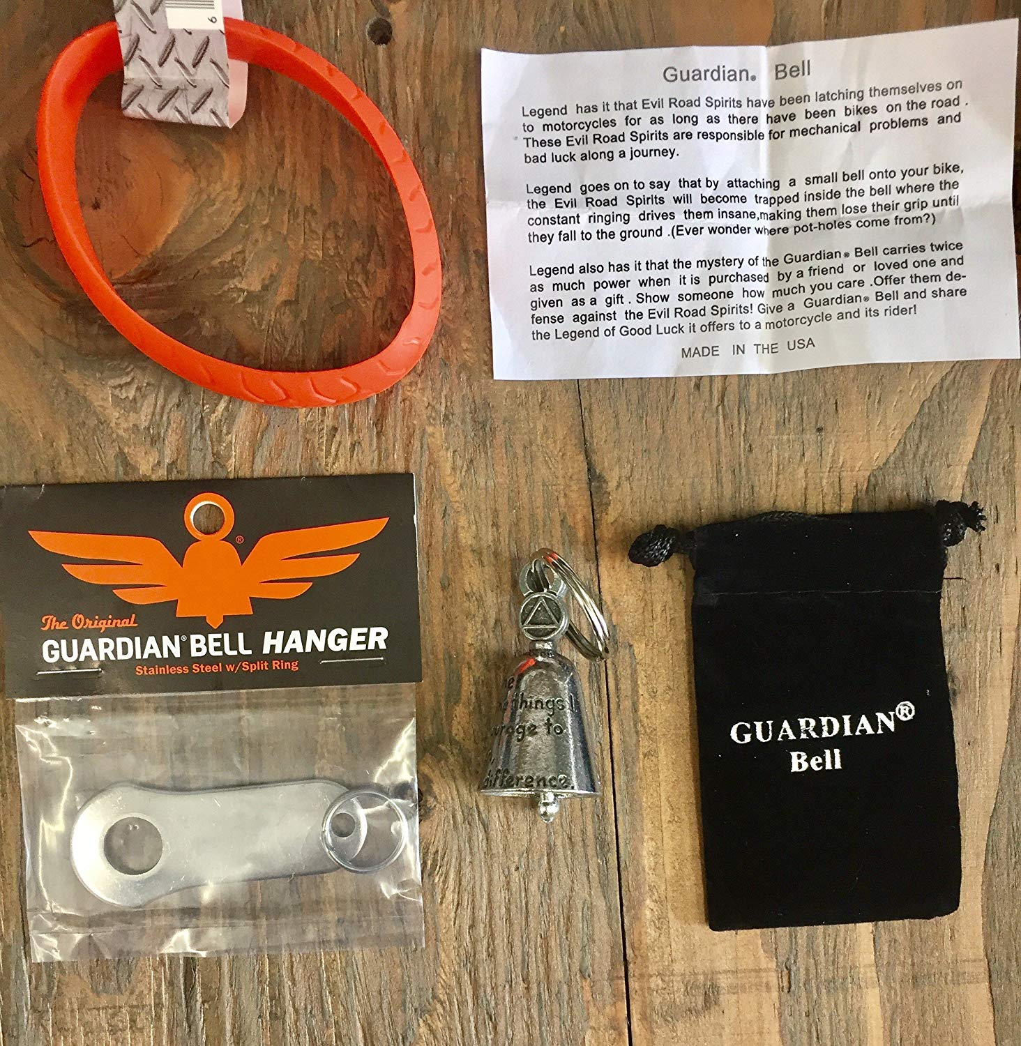 Guardian® Bell ALCOHOL ANONYMOUS COMPLETE MOTORCYCLE KIT W/HANGER & WRISTBAND