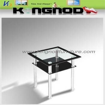 Living Room Home Centre Glass Table Black Tempered Glass Coffee Table
