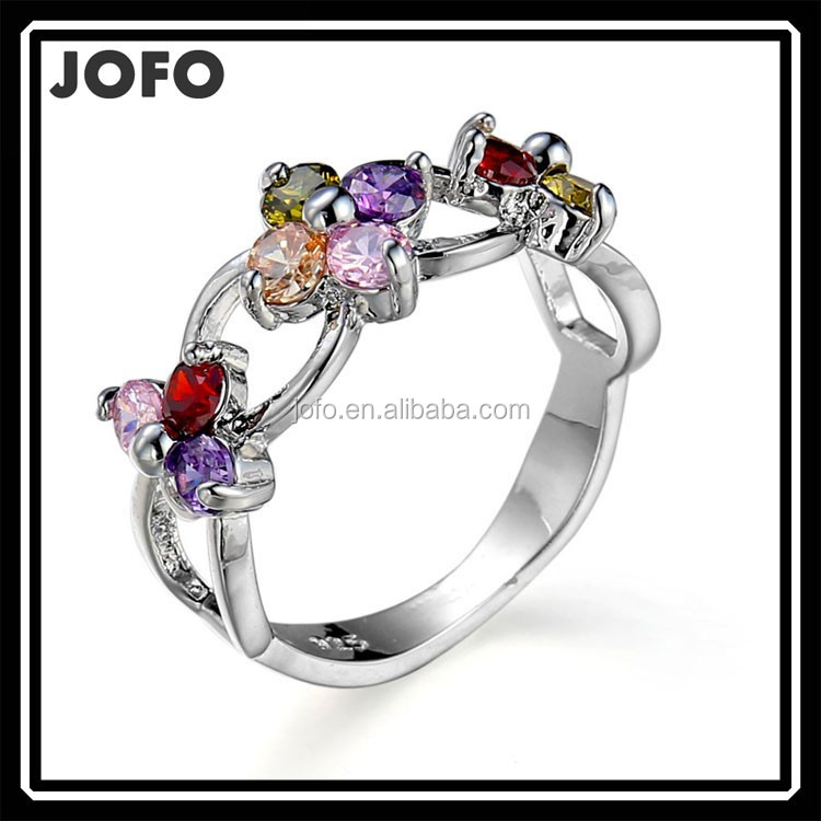 High Quality China Dangle Wholesale Cubic Zirconia rings Designs For Girls