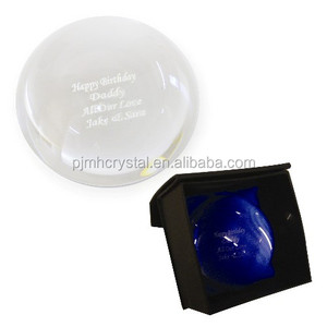 customized glass half ball Crystal dome paperweight MH-ZZ019
