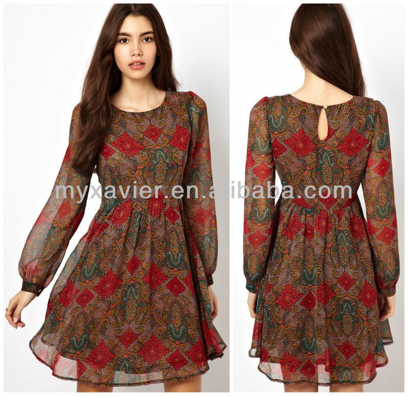 9dcf63f8bd2e African Print Long Sleeve Short Dress Wholesale(s4057) - Buy African ...