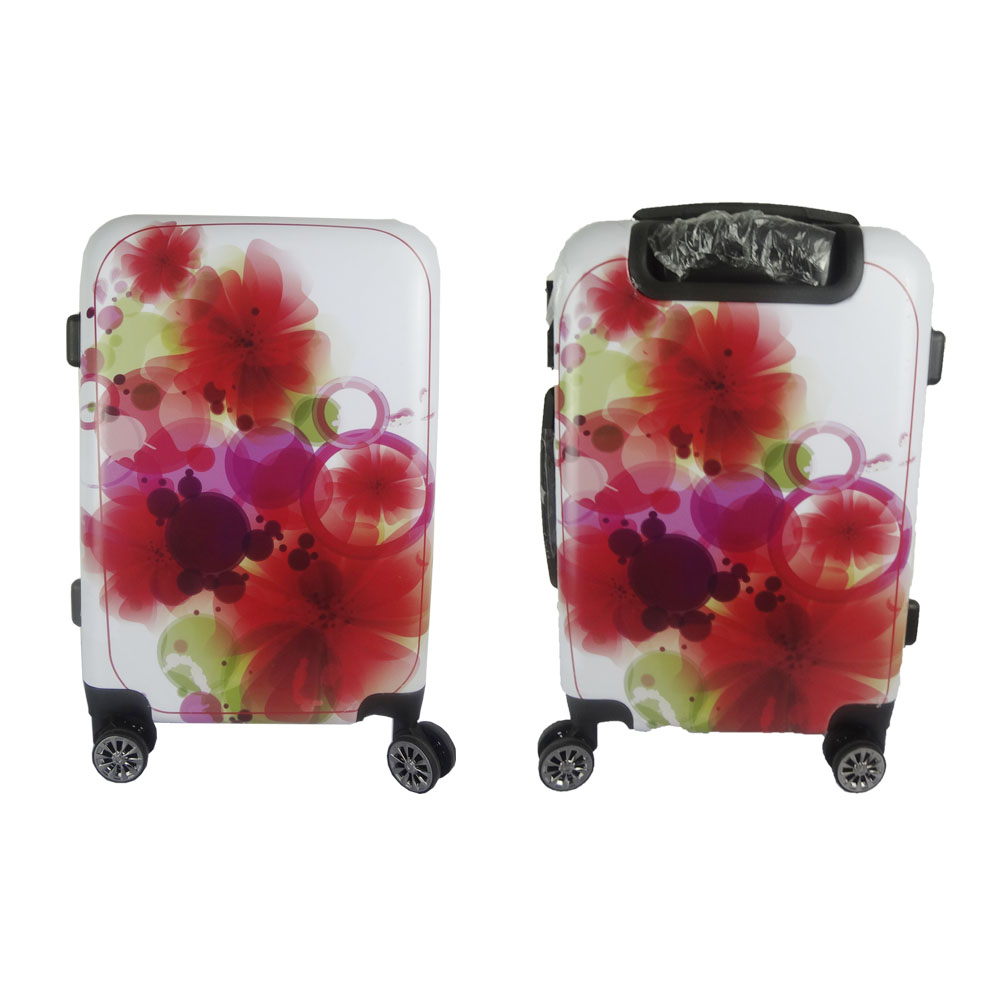 Beautiful Flower Pattern ABS PC Hard Case Luggage Expandable Cabin Luggage