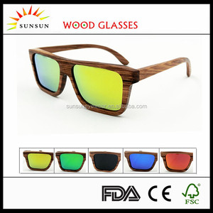 UV400 protected we wood sunglasses for wholesale
